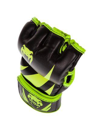 Перчатки MMA Venum Challenger черно-зеленые