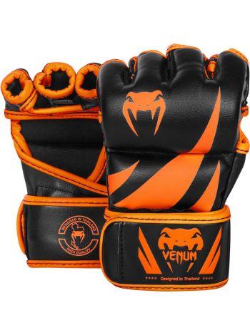 Перчатки MMA Venum Challenger черно-оранжевые