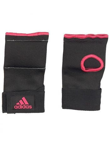 Перчатки бинты Adidas Super Inner Gloves Gel Knuckle черно-розовые