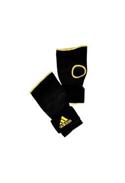 Перчатки бинты Adidas Super Inner Gloves черно-желтые