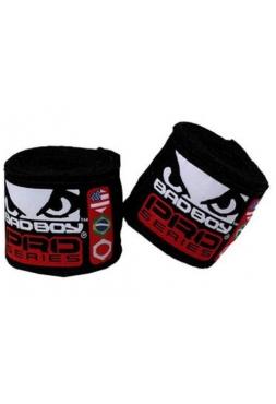 Боксерские бинты BAD BOY 2.5M STRETCH черные
