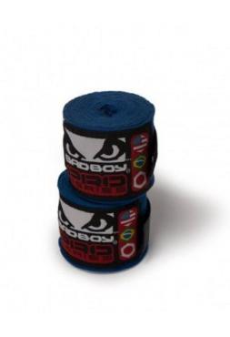 Боксерские бинты BAD BOY 2.5M STRETCH синие