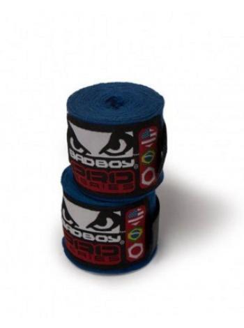 Боксерские бинты BAD BOY 3.5M STRETCH синие