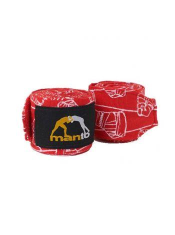 Боксерские бинты MANTO PATTERN красные
