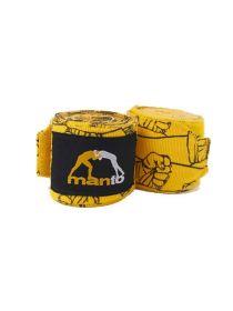 Боксерские бинты MANTO PATTERN желтые