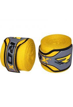 Боксерские бинты RDX Fist Inner Gloves желтые