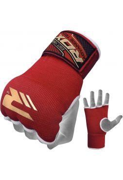 Перчатки бинты RDX Pro Inner Gloves красные