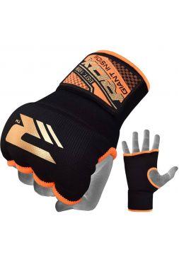 Перчатки бинты RDX Inner Gloves Wrist Strap черно-оранжевые