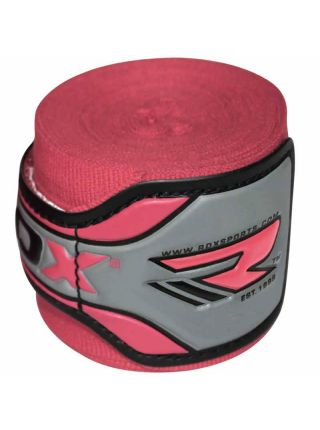 Боксерские бинты RDX Fist Inner Gloves Pink розовые