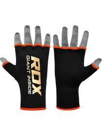 Перчатки бинты RDX Inner Gloves Hand wraps черно-оранжевые