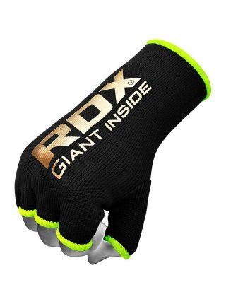 Перчатки бинты RDX Inner Gloves Hand wraps черно-зеленые