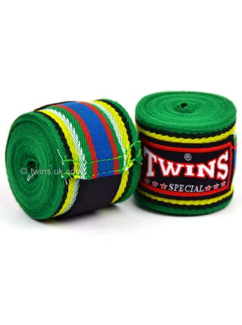 Боксерские бинты Twins CH-2 зеленые