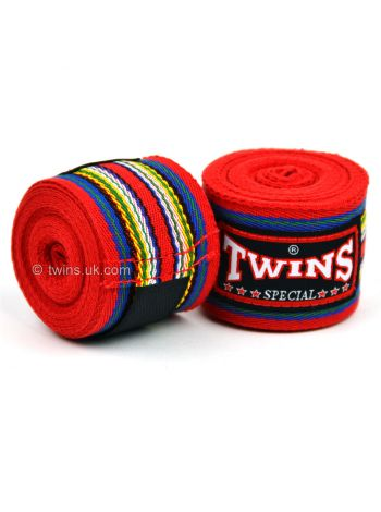 Боксерские бинты Twins CH-2 красные