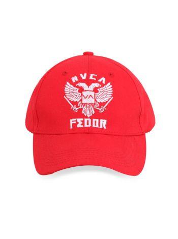 Кепка красная RVCA UFC Fedor