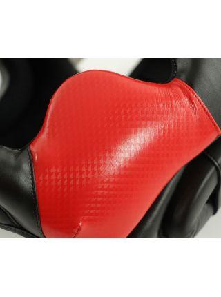 Боксерский шлем Adidas Response Standard Head Guard черно-красный