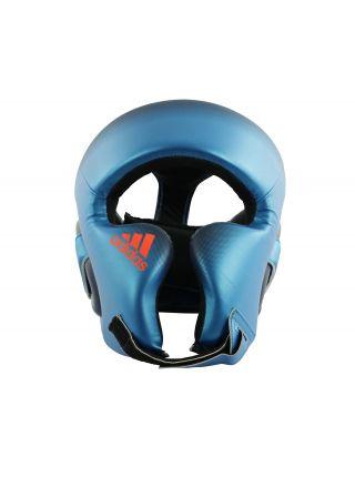 Боксерский шлем Adidas Speed Head Guard сине-оранжевый