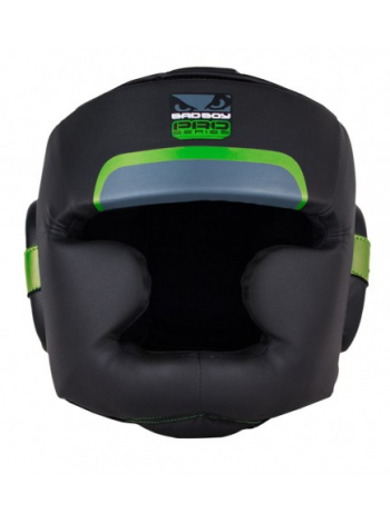Боксерский шлем BAD BOY PRO SERIES 3.0 FULL черно-зеленый