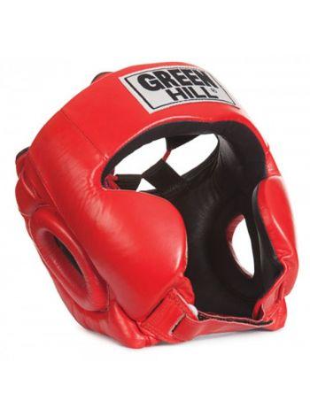 Боксерский шлем Green Hill HEAD GUARD CLUB красный