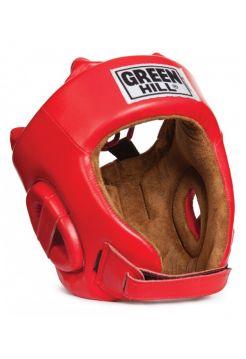 Боксерский шлем Green Hill HEAD GUARD FIVE STAR красный