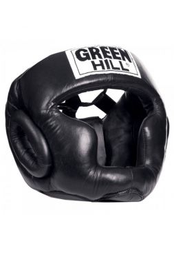 Боксерский шлем Green Hill HEAD GUARD SUPER черный