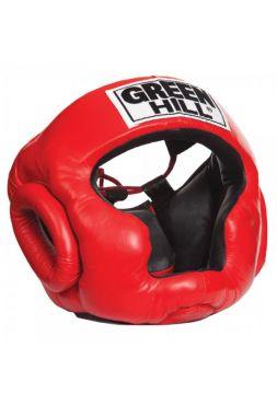 Боксерский шлем Green Hill HEAD GUARD SUPER красный