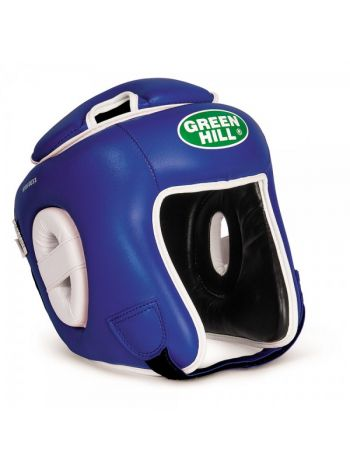 Боксерский шлем Green Hill HEAD GUARD WINNING синий