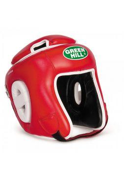 Боксерский шлем Green Hill HEAD GUARD WINNING красный
