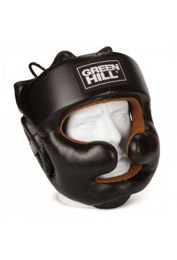 Боксерский шлем Green Hill HEAD GUARD LUX черный