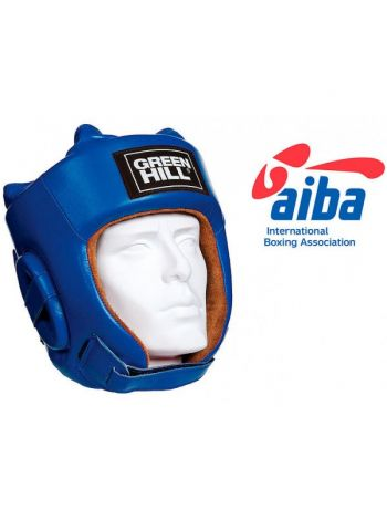 Боксерский шлем GREENHILL HEADGUARD FIVE STAR AIBA-BLUE