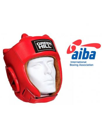 Боксерский шлем GREENHILL HEADGUARD FIVE STAR AIBA-RED красный