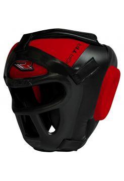 Боксерский шлем RDX Zero Impact Grill-X Leather красный