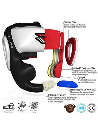 Боксерский шлем RDX Zero Impact Leather