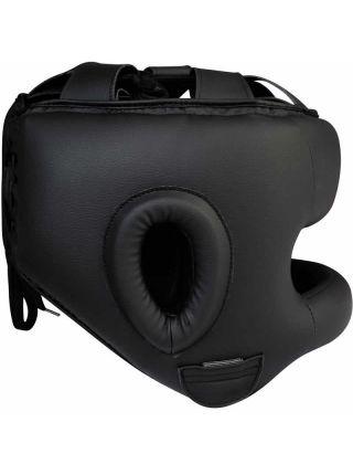 Боксерский шлем RDX Zero Impact Leather Bar