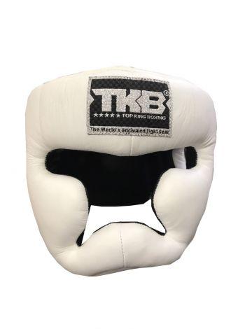 Боксерский шлем Top King Full Protection белый на липучке