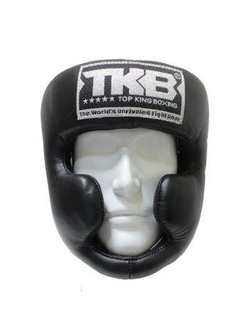 Боксерский шлем Top King Full Protection черный на липучке