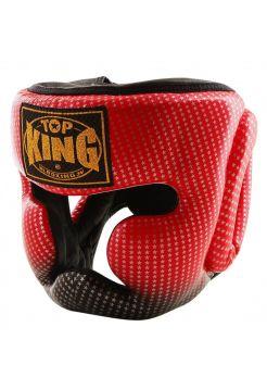 Шлем Top King Super Star красно-черный со звездами