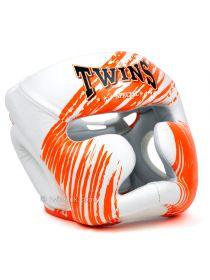 Боксерский шлем TWINS FHG-TW2 бело-оранжевый