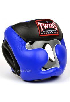 Боксерский шлем Twins 2-Tone Sparring HGL-3T сине-черный