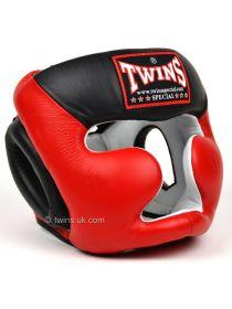 Боксерский шлем Twins 2-Tone Sparring HGL-3T красно-черный