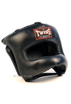 Шлем для бокса TWINS HGL-9 черный на липучке