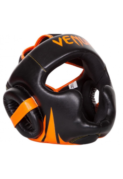 Боксерский шлем VENUM CHALLENGER 2.0 черно-оранжевый