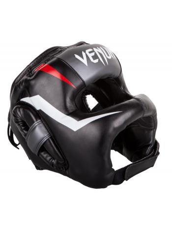 Боксерский шлем VENUM ELITE IRON черно-бело-красный