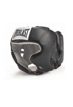 Боксерский шлем Everlast USA Boxing с защитой щек черный