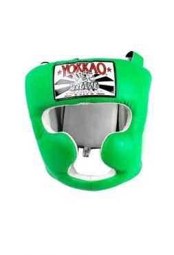Боксерский шлем Yokkao зеленый