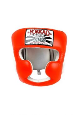 Боксерский шлем Yokkao оранжевый