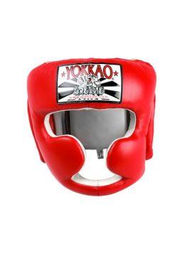 Боксерский шлем Yokkao красный