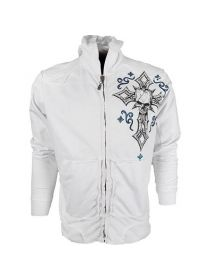 Толстовка белая Affliction Domma Zip-Up MMA