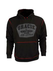 Толстовка черная Gracie Jiu-Jitsu Warmup Hoodie
