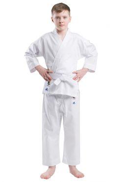 Кимоно для карате подростковое с поясом Adidas EVOLUTION WKF белое