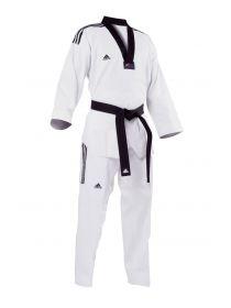 Добок для тхэквондо Adidas WTF ADI-FIGHTER 3 белый с черным воротником